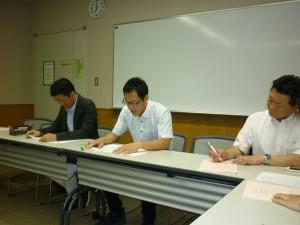 浦上副会長(左)・笹井会長(中央)・佐藤会系(右)