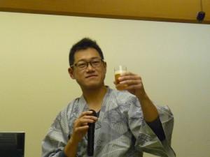 笹井 相文会長の乾杯発声