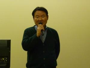 亀山専務理事 開会の辞