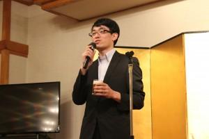 乾杯のご発声は、神奈川県中小企業団体中央会の山口主事にお願いしました。
