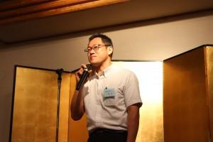 相文会報告 笹井会長 2期連続の会長です。