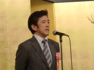 来賓の挨拶 神奈川県事務用品団体連合会 廣澤会長