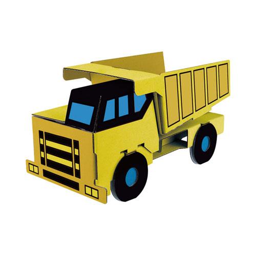 ダンプカーに付属のペンで着色したイメージ