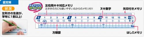 はし0メモリ直定規(30cm税別200円・18cm税別100円・15cm税別70円)