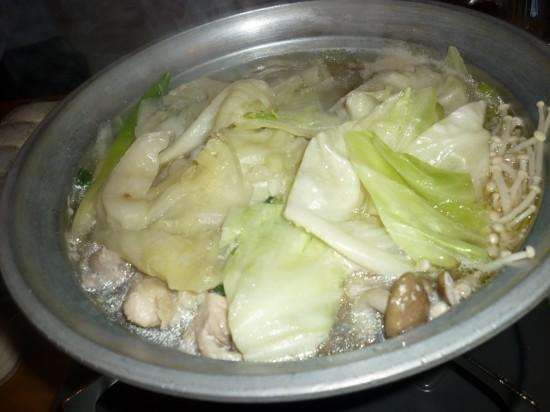 鍋は塩とチゲから・・・今回は塩をチョイス
